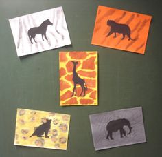 Background with animal fur motif in the foreground are the silhouettes - Tiere African Art Projects, African Crafts, Safari Theme, Jungle Theme, Badass Girl, Theme Sport, Giraffes Cant Dance, Afrique Art, 5th Grade Art