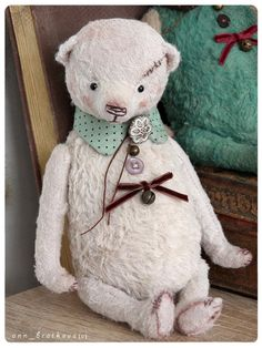 artist toy teddy bear berry by anna bratkova