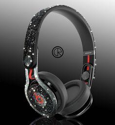 Swarovski-studded Dr Dre Mixr headphones by Crystal Rocked