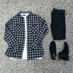Ironplaid #outfitgrid | @outfitgrid #uniqlo flannel #elwoodclothing long tee #representclo biker denim #asosclothing chelsea boots #streetwear #streetstyle #bestfitsdaily #streetnotoriety #highsnobiety #snobshots #simplefits #minimalmovement #minimalist #minimal #outfitlayout #thelookdown #outfitsociety #outfitplace #ootd #outfitoftheday #wdywt #wiwt #menwithstreetstyle #complexkicks #allthingsgood #redditstreetwear #layersoflayer