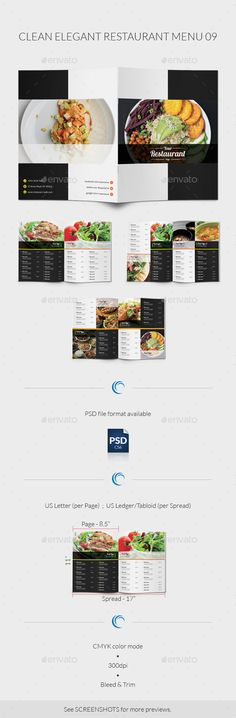 Clean Elegant Restaurant Menu Template #design #speisekarte Download: http://graphicriver.net/item/clean-elegant-restaurant-menu-09/8135136?ref=ksioks