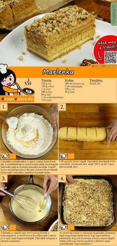 Dessert Cake Recipes, Easy Desserts, Cookie Recipes, Hungarian Desserts, Winter Food, No Bake Cake, Street Food, Sweet Recipes, Food To Make