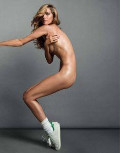 Gisele Bundchen sportin' Stan Smith's: Vogue Paris  Don't like the shoes, but I like the photo