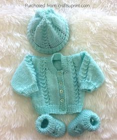Darren Baby Set~DK & 4ply~Prem to 3 months by Christina Self Darren Knitting Pattern~DK & 4ply~Premature to 3 months Write a review £2.50…