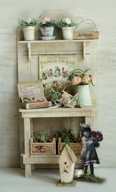 Gartengestell  Don't miss more pins on tutorials and DIY and gardens on my other Miniatures and Dollhouse Boards! (RM)