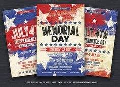 July 4th & Memorial Day Flyers by DesignWorkz on Creative Market