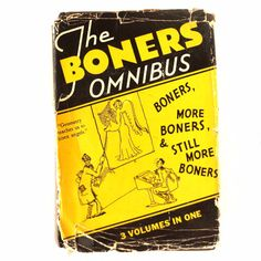 """Vintage """"The Boners Omnibus"""" Book, 3 volumes in one, illustrated by Dr. Seuss (c.1931)"""