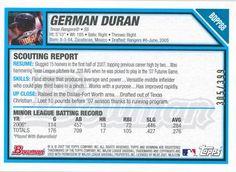 2007 Bowman Draft Picks & Prospects - Futures Game Prospects Blue #BDPP88 German Duran Back