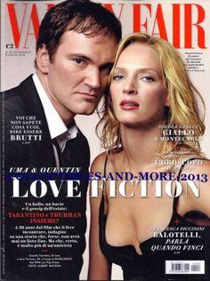 Quentin Tarantino, Uma Thurman, Uma Thurman and Quentin Tarantino, Vanity Fair Magazine 09 July 2014 Cover Photo - Italy Vanity Fair Magazine, Now Magazine, Magazine Covers, Emma Peel, Mia Wallace, Uma Thurman, Pulp Fiction, Female Actresses, Actors & Actresses