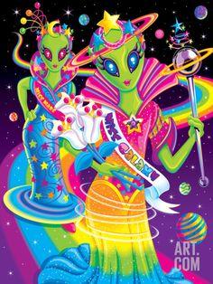 Miss Galaxy '99 Art Print by Lisa Frank at Art.com