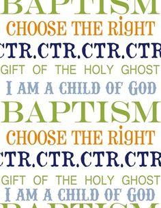 free lds baptism printables | FREE Baptism Print
