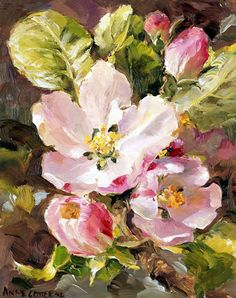 Apple Blossom | Mill House Fine Art – Publishers of Anne Cotterill Flower Art