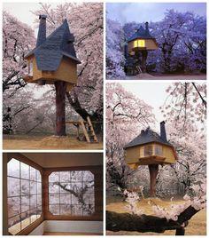 "cool Fujimori Tea (Tree) House  #Japan #Tree #Treehouse This Treehouse located in Japan is a Tea House. With the trees around in bloom, soromantic!      [symple_box color=""gray"" fade_in=""false"" floa..."