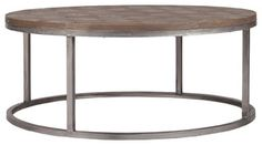 Colby Modern Industrial Loft Reclaimed Wood Coffee Table - coffee tables - by Kathy Kuo Home