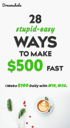 How To Make 500 Dollars Fast: 28 Smart And Proven Methods Earn Money From Home, Make Money Blogging, Way To Make Money, Make Money Online, How To Make, Money Fast, Online Side Jobs, Best Home Business, Business Ideas