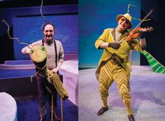 Shawn Knight as Grasshopper, before and after crocodile tongues! James And The Giant Peach Costume, James And Giant Peach, Luke Collins, Frog Costume, Fantastic Show, Actor Picture, Roald Dahl, Classic Books, Costumes