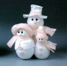Snow Family - This adorable snowman clan makes a great winter holiday decoration that the whole family will love. They are so easy to make with STYROFOAM™ Brand Foam and polar fleece