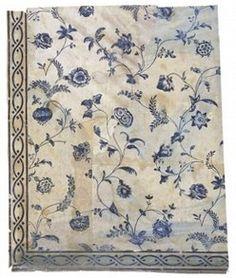 18th century chintz wallpaper, V+A museum