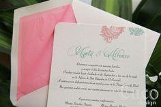 Cucodesign: Invitación ¨Pluma¨ - Romántica y elegante