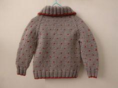 Hand knit warm cardigan knitted wool jacket woollen baby