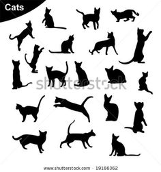 Cat tattoo for Jones? Dream Tattoos, Cool Tattoos, Tattoo Forum, Wall Stencil Patterns, Silhouette, Cat Tattoo, Tattoo Inspiration, Body Art, Ink