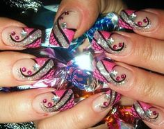 pink party nails