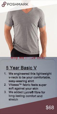 Lululemon Men's 5 Year Basic V Worn once, excellent condition lululemon athletica Shirts Tees - Short Sleeve