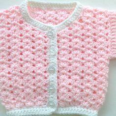 Newborn pink coat, Crochet baby cardigan, Baby pink cardigan, Baby shower gift, New baby sweater Crochet Baby Sweater Pattern, Crochet Baby Sweaters, Baby Sweater Patterns, Crochet Baby Clothes, Crochet Baby Shoes, Newborn Crochet, Baby Knitting Patterns, Pink Cardigan, Couture