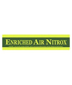 Enriched Air Tank Band Diving & Snorkeling Sporting Goods - https://xtremepurchase.com/ScubaStore/enriched-air-tank-band-573015148/