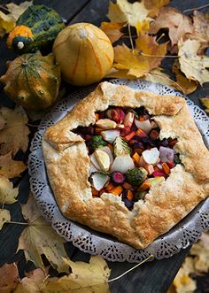 Savory Autumn Vegetable Galette:  Prep Time: 45 Minutes  Cook Time: 50-55 Minutes  Makes: 6 Servings