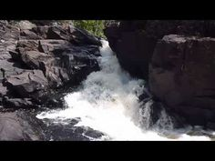 Ragged Falls at Oxtongue River - Ragged Falls Provincial Park, just outside the west entrance to Algonquin Provincial Park.
