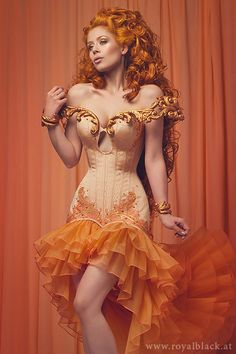 "Couture Corset Dress ""The Concubine"" gloriousempire06"