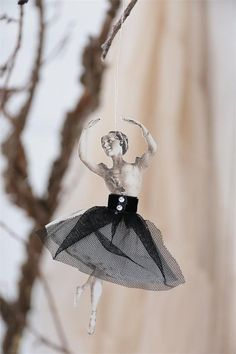 Ballerina Paper Doll with Tulle Skirt by lamoneeboutique on Etsy