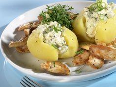 Kartoffeln mit Hüttenkäse und Hähnchengeschnetzeltem – perfekt nach dem Training!