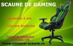 Scaune gaming pentru impatimitii de jocuri pe PC sau console