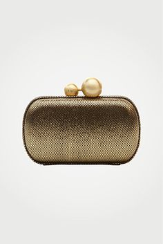 DVF | Sphere Metallic Leather Clutch In Gold #EMBELLISHME http://on.dvf.com/PI040813
