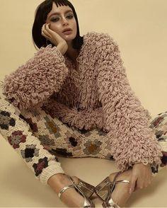 "houseofknot: ""When they discontinue your ____________. www.houseofknot.ca . Editorial for @yokomagazine @tinapicardphoto Styling: @ornellakondo @alessa_aleks Hair& MU: @irenesymakeup #houseofknot #knitwear #crochet #canadianfashion..."