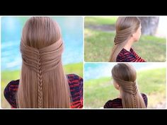 Mermaid Half Braid Tutorial | Cute Hairstyles - YouTube