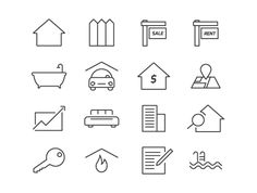 Real Estate Icons (Vector)