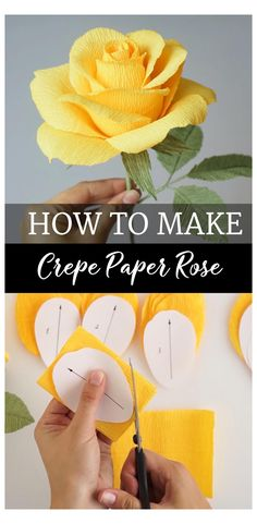 Paper Flowers Craft, Paper Crafts Origami, Diy Flowers, Crepe Paper Crafts, Flower Crafts, Flower Diy, Flowers From Tissue Paper, Handmade Paper Flowers, Simple Paper Crafts