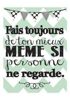 Quotes for Motivation and Inspiration QUOTATION – Image : As the quote says – Description Always do you best even if no one's looking- Thème Vintage/Subway Art - French Phrases, French Words, French Quotes, Cute French Sayings, The Words, Material Didático, French Expressions, Quote Citation, Teaching French