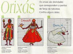 Bom dia meninas e meninos!   Hoje trouxe a pedidos os gráficos África: Orixás em Ponto Cruz. São gráficos que não são fáceis de encontrar;...