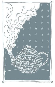 English teapot numbered limited edition A4 print by HaveAGanderUK, £20.00