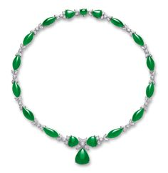 JADEITE AND DIAMOND NECKLACE   Lot   Sotheby's