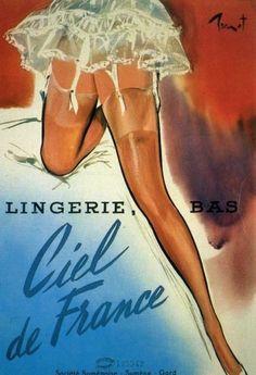nylon stockings hosiery 60s / art by Pierre Laurent Brenot