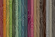 Faux Bois Wood Hand Drawn Patterns by Lemonade Pixel on Creative Market