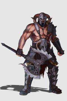 ArtStation - Barbarian - Pathfinder character design, Diego Vila