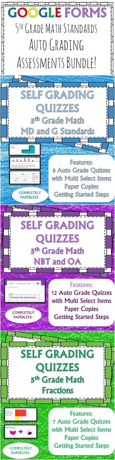 Adding and Subtracting Fractions 5NF1 Self Grading Assessment