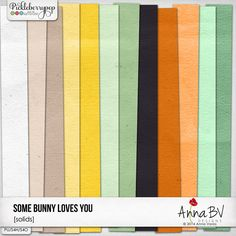 Some Bunny Loves You solid papers by Anna BV Designs Some Bunny Loves You, Digital Scrapbooking, Anna, Love You, Collections, Paper, Design, Products, Te Amo