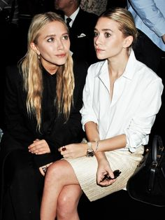 Mary-Kate and Ashley, front row during New York Fashion Week, September 2011 (via olsensobsessive.com)